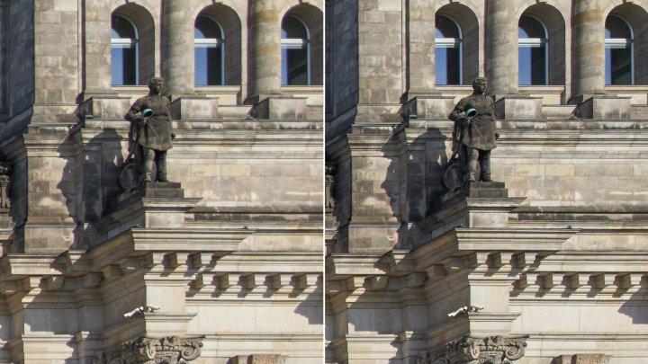 Testbild Sigma 24 mm f/2 DG DN Contemporary + Sony Alpha 7R IV   Bildschärfe Bildrand bei f/2 und f/4 (re.)