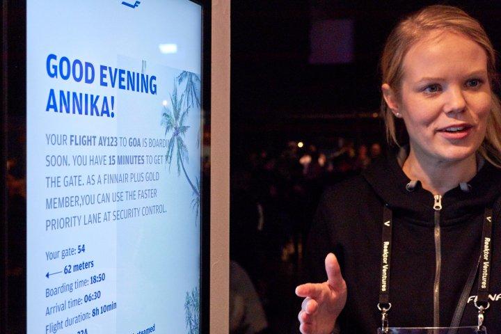 Slush 2017: Finnair zeigt sein Check-In-System mit Gesichtserkennung
