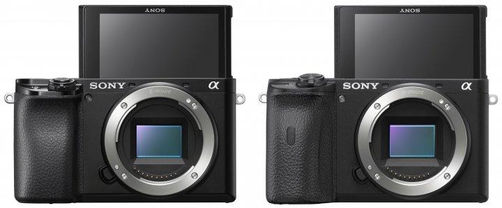 Wer ist wer? Links die Sony Alpha 6100, rechts die Alpha 6600 mit größerem Handgriff [Bildmaterial: Sony]