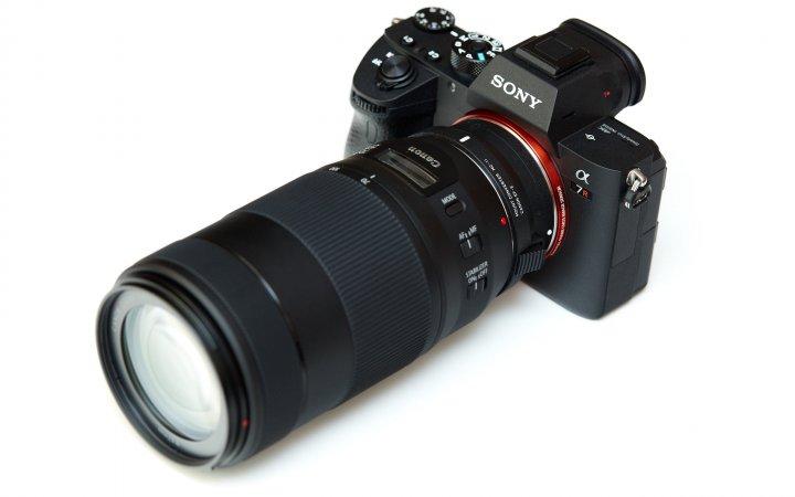 Sony Alpha 7R III zusammen mit dem Canon EF 70-300 mm IS II USM (via Sigma MC-11)
