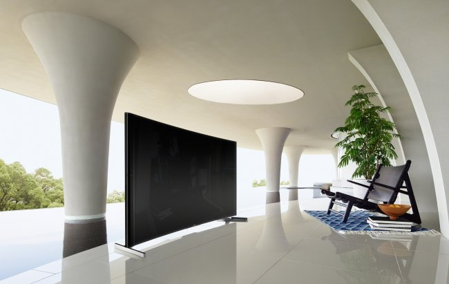Sony Bravia S90: Curved-UHDTV mit 4.2 Soundsystem [Bildmaterial: Sony]