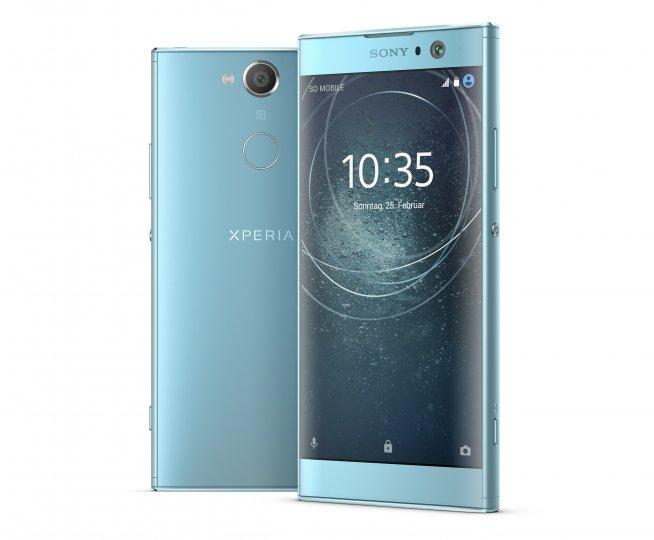 Neue Sony-Smartphones wie das Sony Xperia XA2 tragen den Fingerabdruck-Scanner hinten