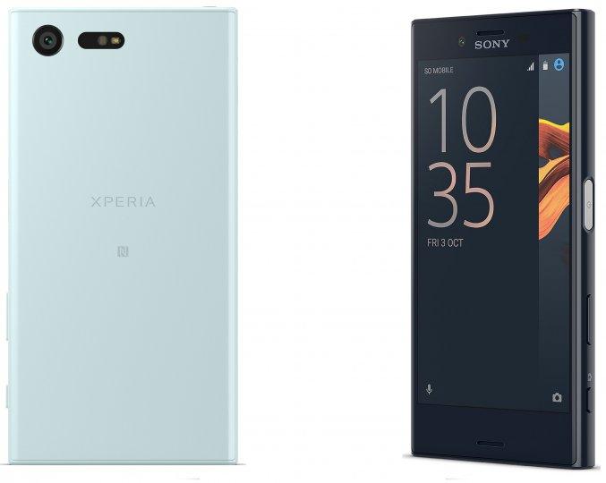 Bis auf Größe, Akkukapazität und Display-Auflösung unterscheidet sich das Sony Xperia X Compact nicht vom Sony Xperia X