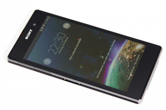 Sony Xperia Z1: Full-HD-TRILUMINOS-Display mit natürlichen Farben, aber zu geringem Kontrast