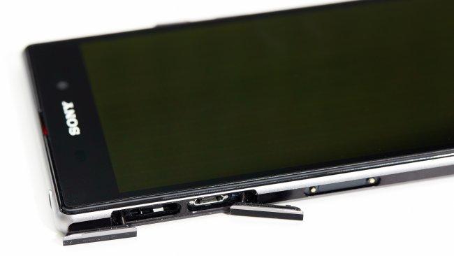 Sony Xperia Z1: microSD-Speicherkarten-Erweiterung und microUSB-Anschluss
