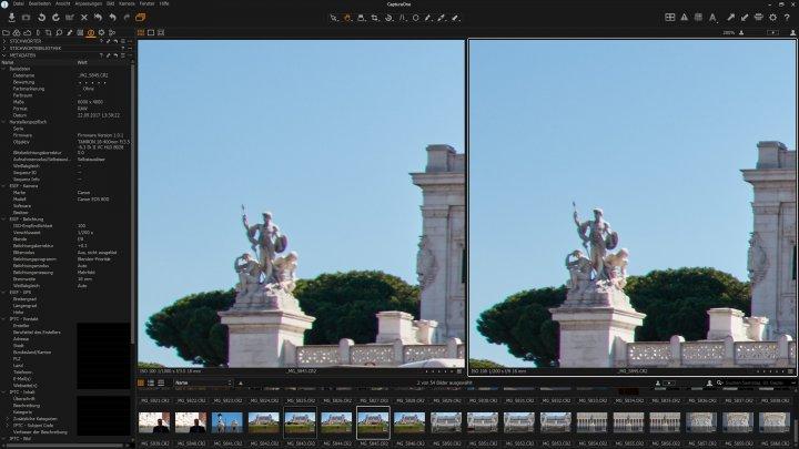 Testbild Tamron 18-400 mm Di II VC HLD: Die Bildqualität am Bildrand bei 18 mm ist unterdurchschnittlich