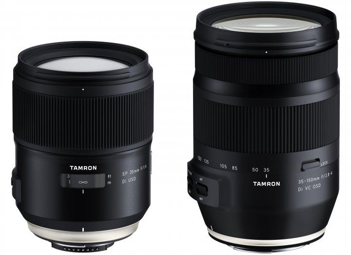 Tamron SP 35 mm f/1.4 Di USD (li.) und Tamron 35-150 mm f/2.8-4 Di VC OSD [Bildmaterial: Tamron]