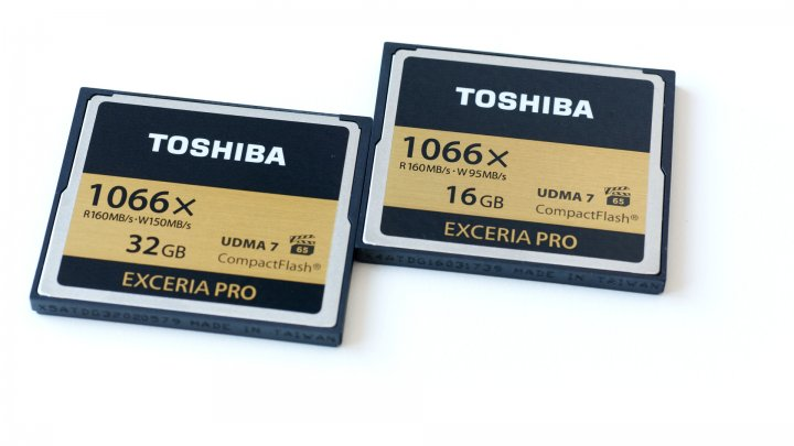 Toshiba Exceria Pro CompactFlash 16 und 32 GB