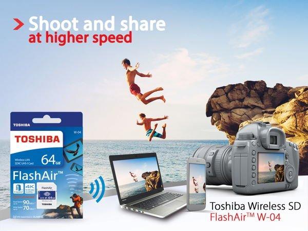 Toshiba FlashAir W-04 [Bildmaterial: Toshiba]
