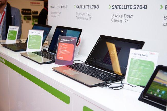 Ebenfalls mit in Hamburg dabei war die komplette, neue Toshiba Satellite-Familie für das Jahr 2014