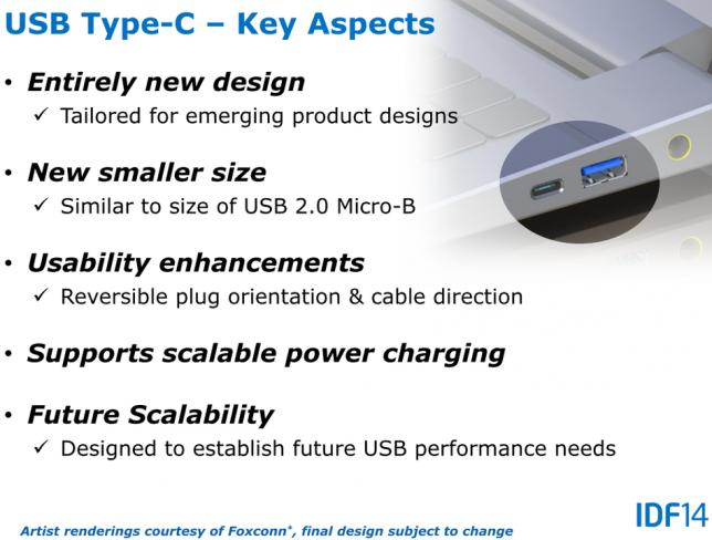 Durch das neue Design des USB Type-C Anschlusses lässt sich der Stecker nicht mehr verkehrt einsetzen [Bildmaterial: Intel]