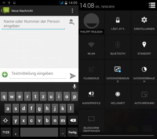 Wiko Highway Signs: Die eingesetzte Android-Version unterscheidet sich nur geringfügig von der auf Nexus-Geräten