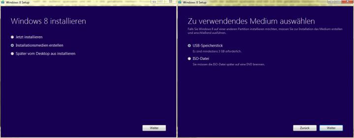 Windows 8.1 lässt sich bequem und vor allem schnell via USB-Stick installieren