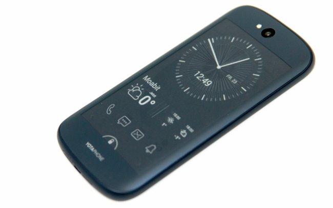 YotaPhone 2: Das Ghosting fällt stellenweise stark auf, ist aber angenehmer, als ein aufblinkender Bildschirm