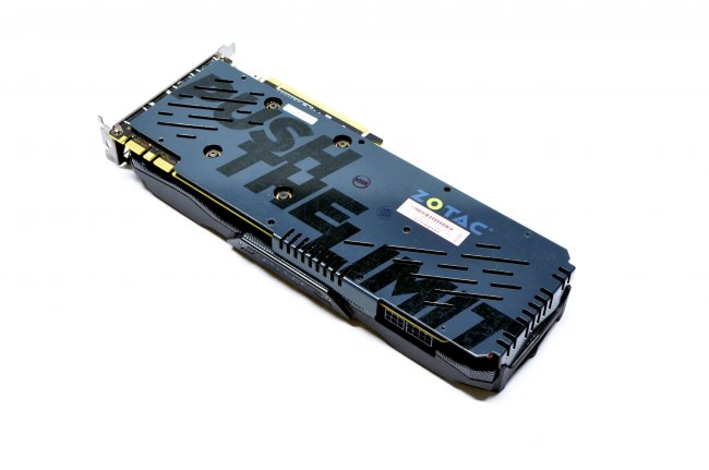 ZOTAC GTX 980 Ti AMP! - Die Backplate