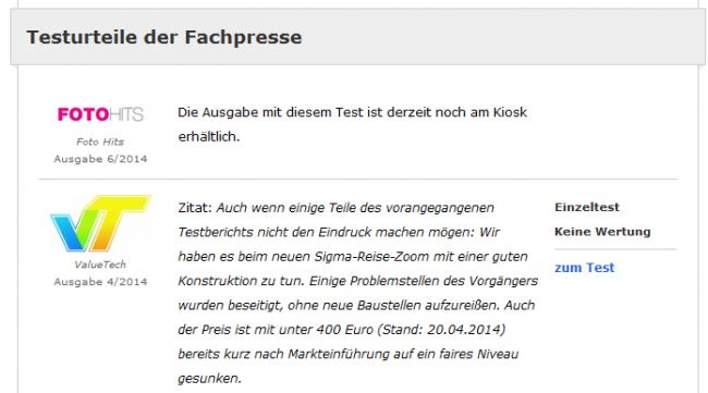 Testberichte von ValueTech.de auf eTest.de