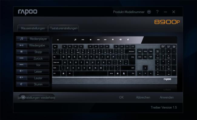 rapoo E8900P Treiber