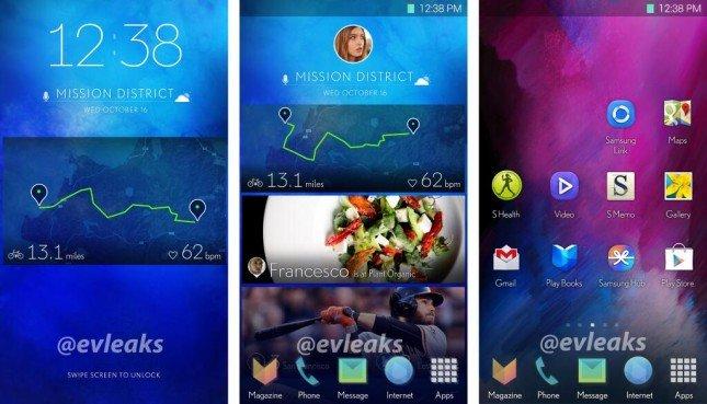 Samsung Touchwiz Oberfläche, Leak des neuen Galaxy S5