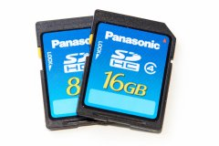Panasonic Blue/Silver 8 & 16 GB